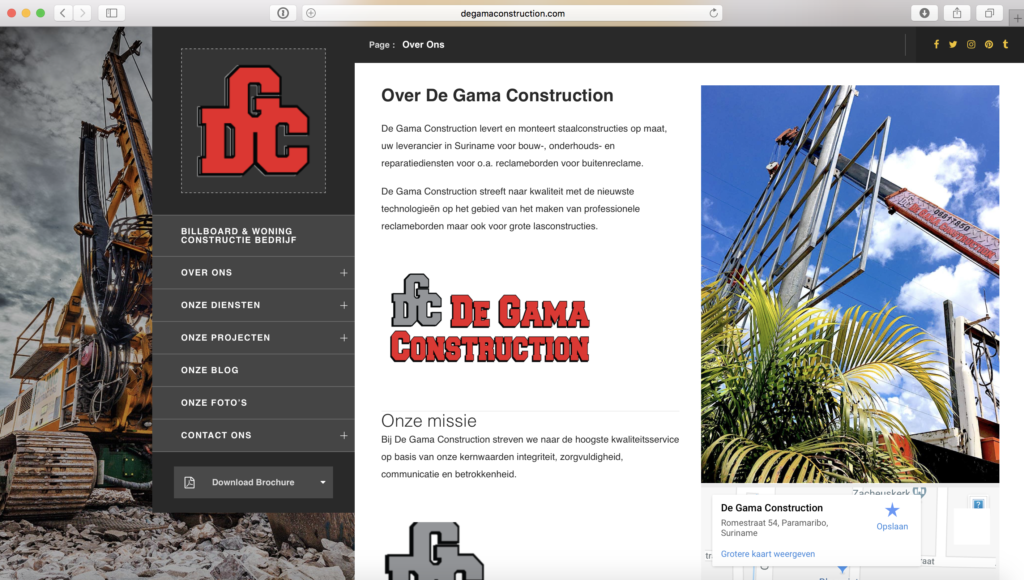 Portfolio De Gama Construction in Suriname
