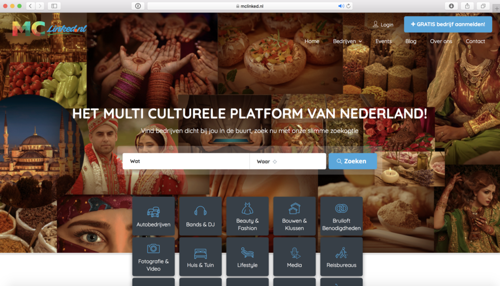 Portfolio MClinked Bedrijvengids in Nederland